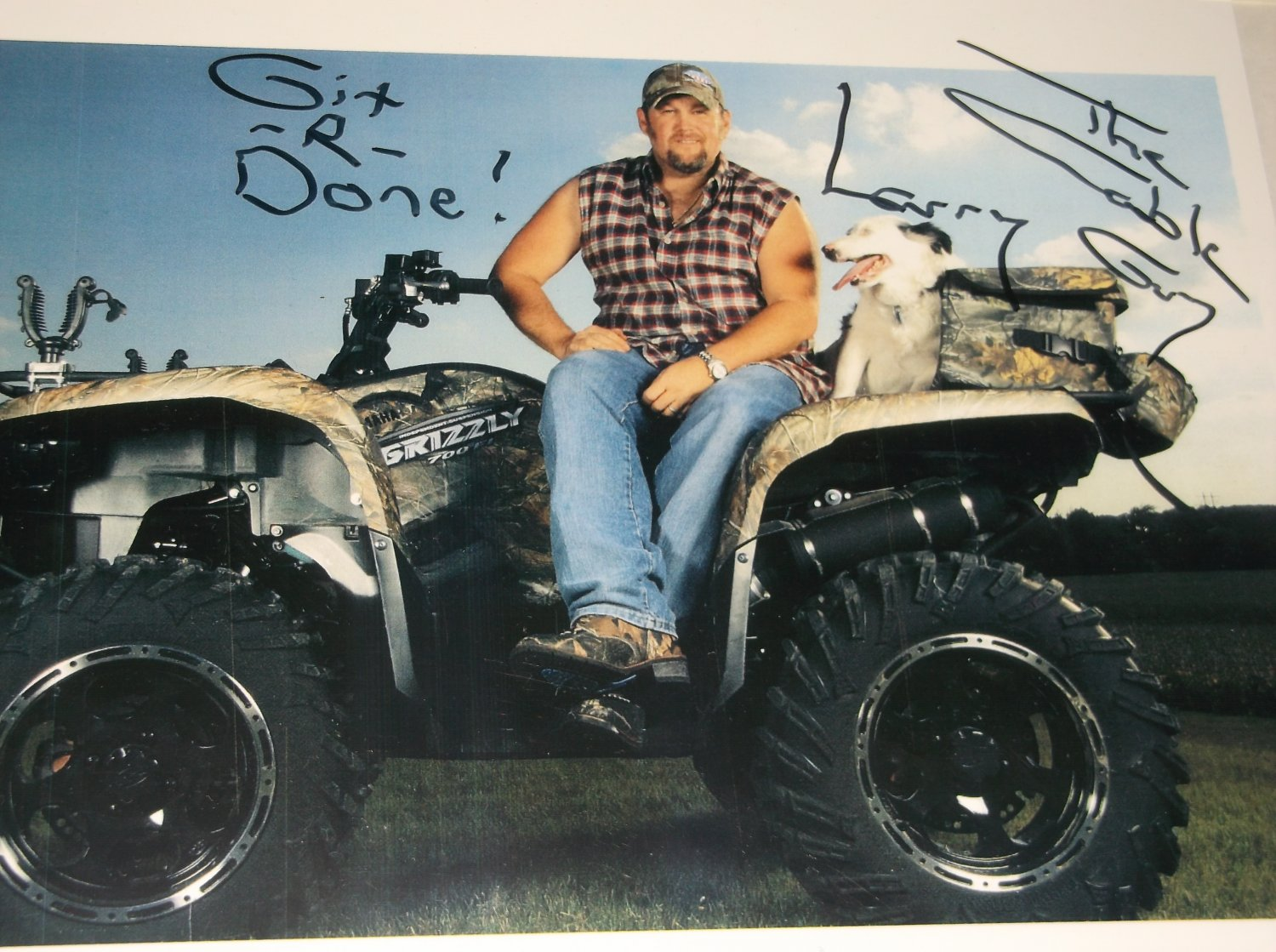 Larry The Cable Guy signed reprint 10x8 photo