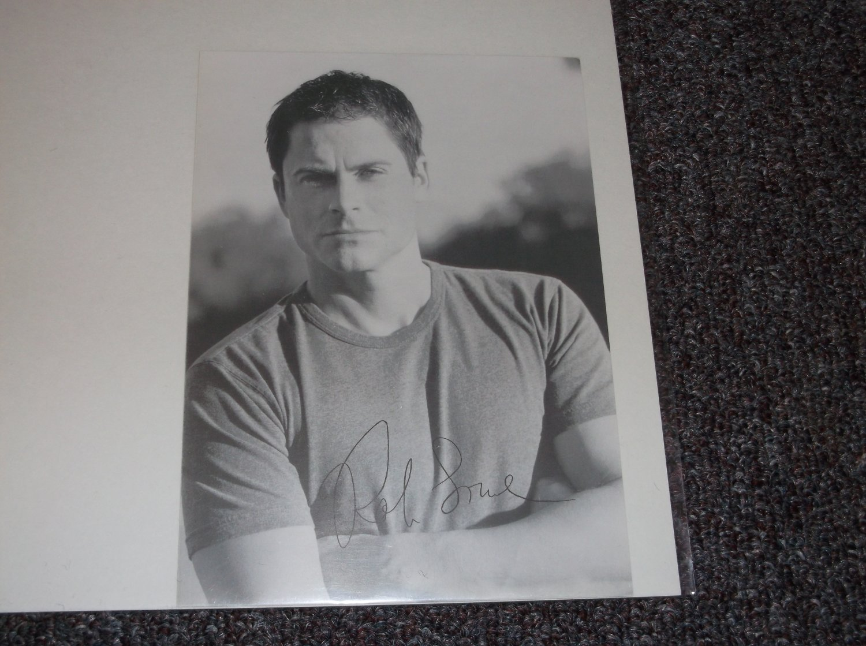 Rob Lowe signed reprint 5x7 photo