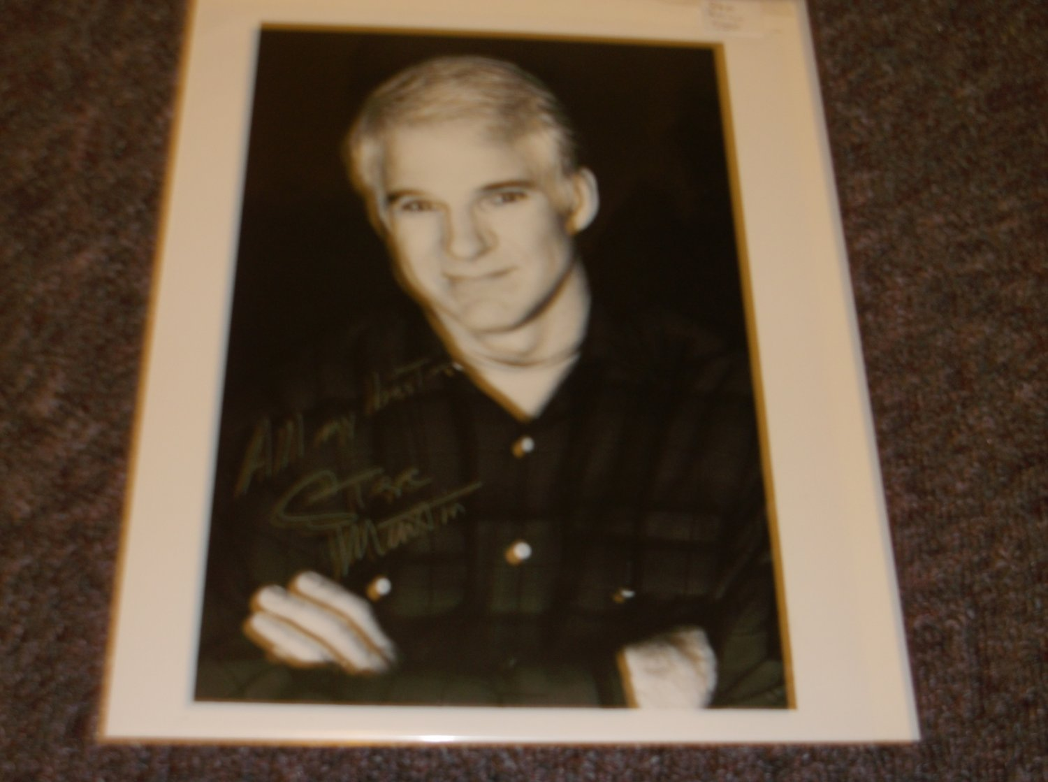 Steve Martin signed 8x10 photo probably a reprint