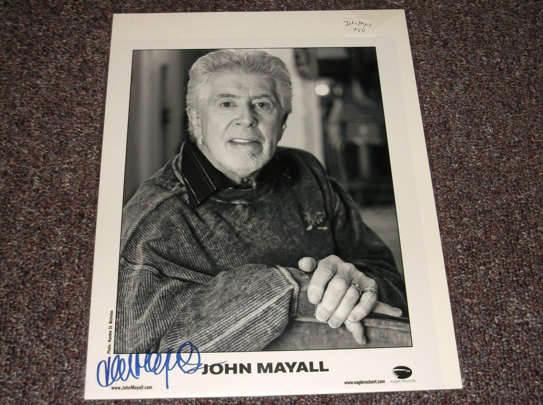 John Mayall signed 8x10 photo English Blues Musician