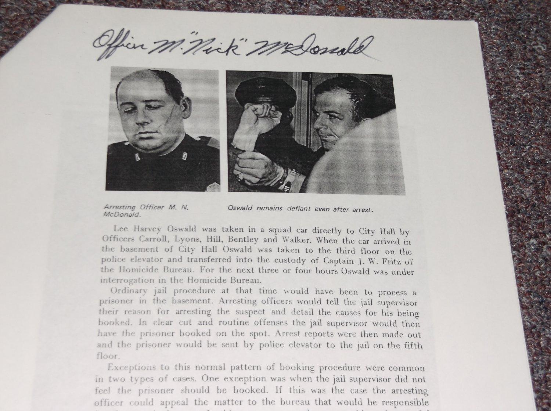Nick McDonald (1928-2005) signed Oswald article