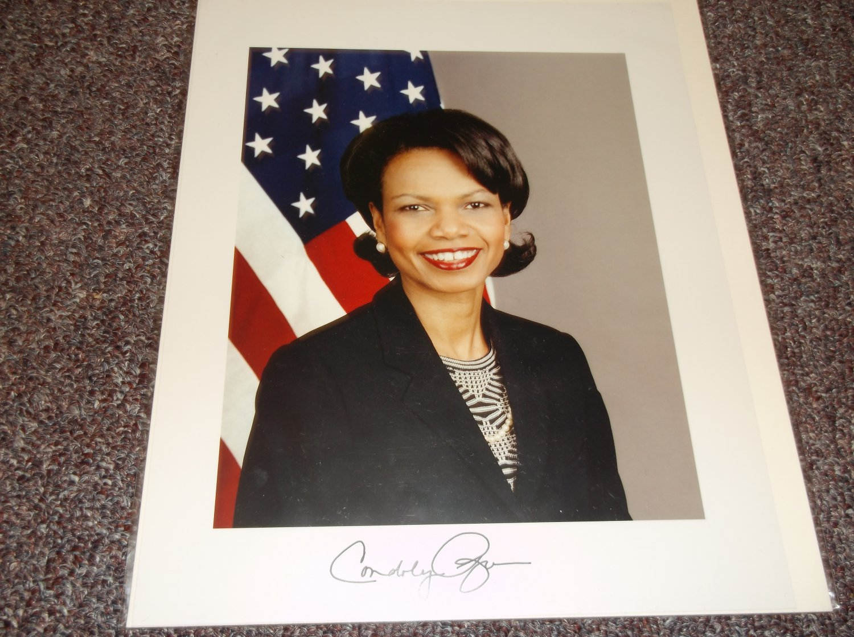 Condoleeza Rice signed 8x10 photo probably autopen