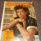 Keith Richards signed 1988 magazine cover Rolling Stones