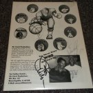 Otis Wilson Jim Schwantz signed brochure Chicago Bears