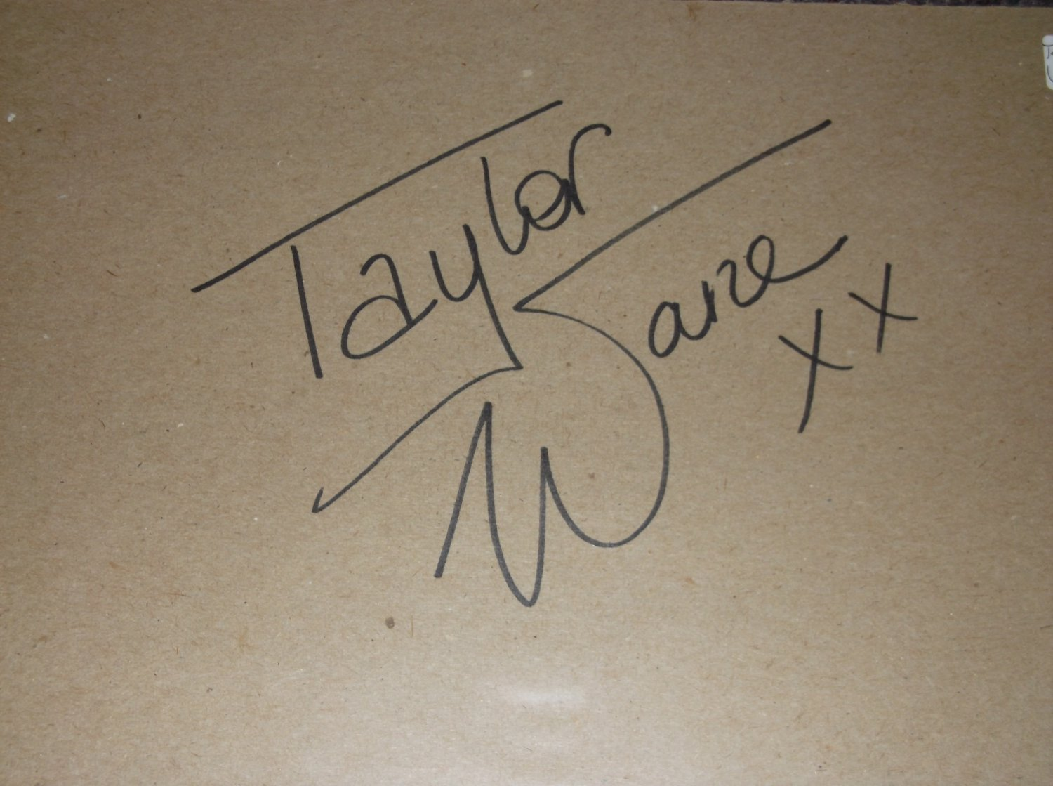 Taylor Wane signed 8x11 cardboard, Adult Film actress