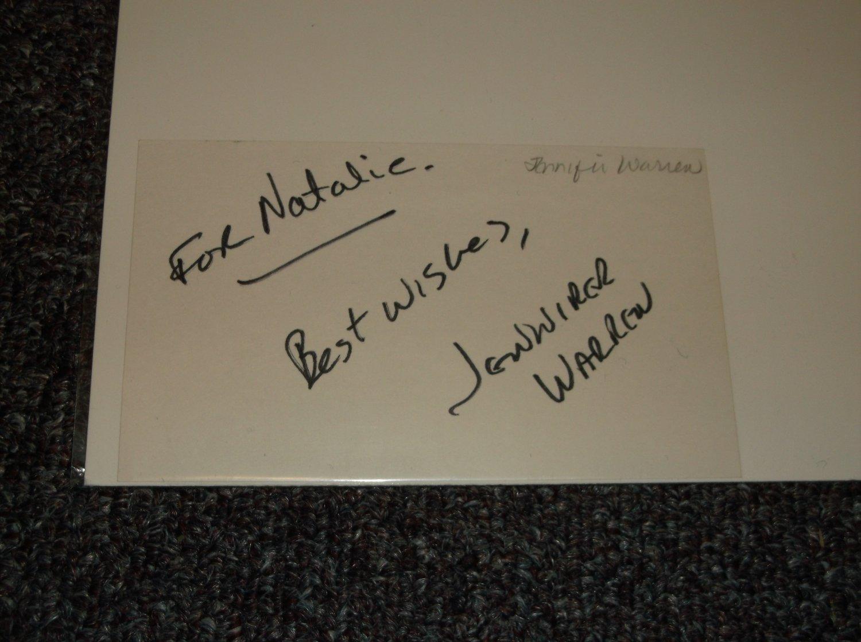 Jennifer Warren actress signed inscribed 3x5 card