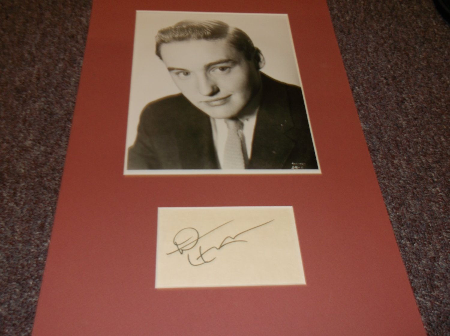 Dennis Hopper 1936-2010 signed 3x5 card w/photo