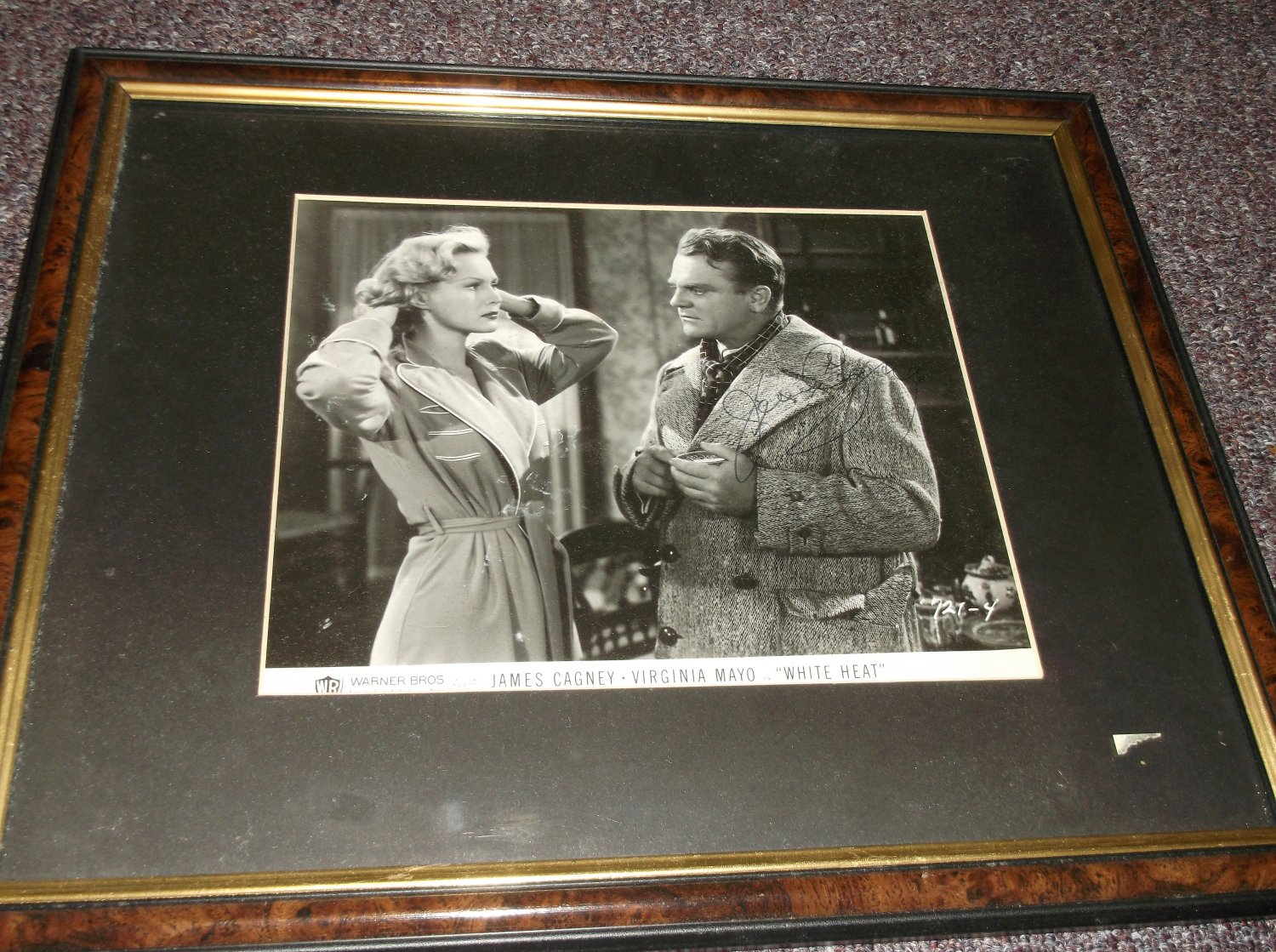 James Cagney 1899-1986 signed photo framed