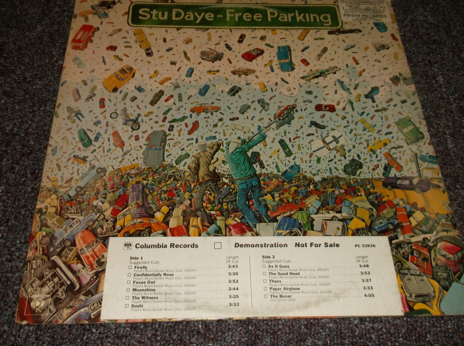 Stu Daye Free Parking white label promo LP
