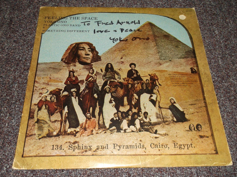 Yoko Ono signed inscribed vintage 1973 LP