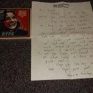 Jello Biafra 2009 handwritten letter plus sealed cd