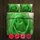 Green Rose Fleece Blanket Large & 2 Pillow Cases #86052669 ,86052671 (2)