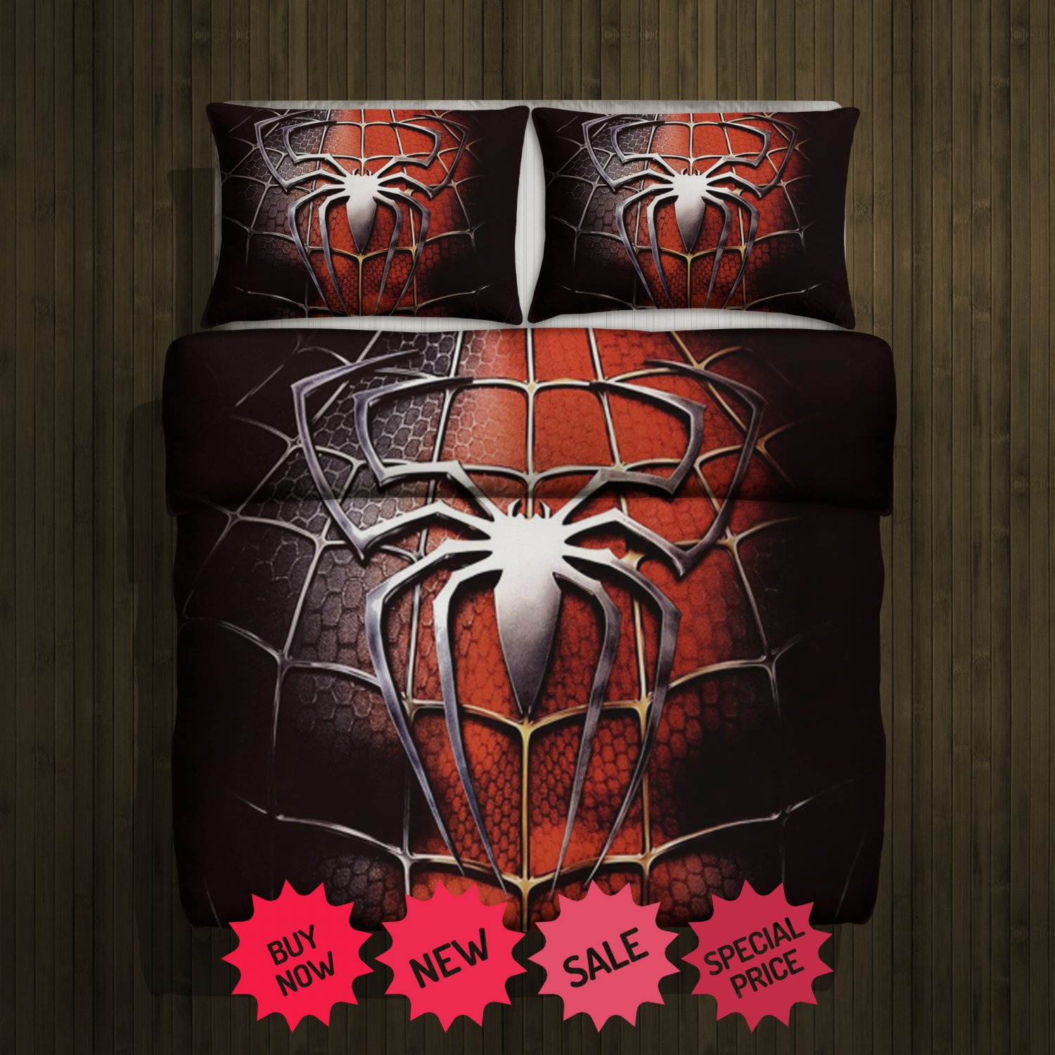 Spiderman New Blanket Large & 2 Pillow Cases #92733436,92733437(2)