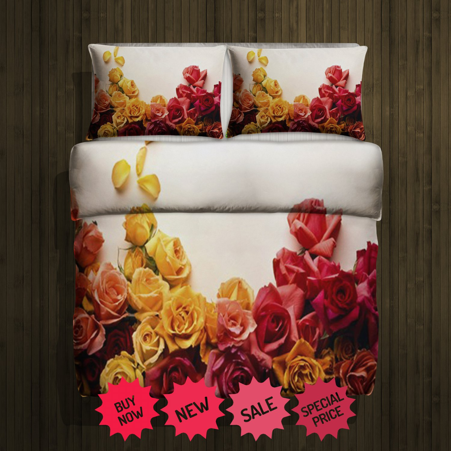Rose Fleece Blanket Large & 2 Pillow Cases #84627540,84627542(2)