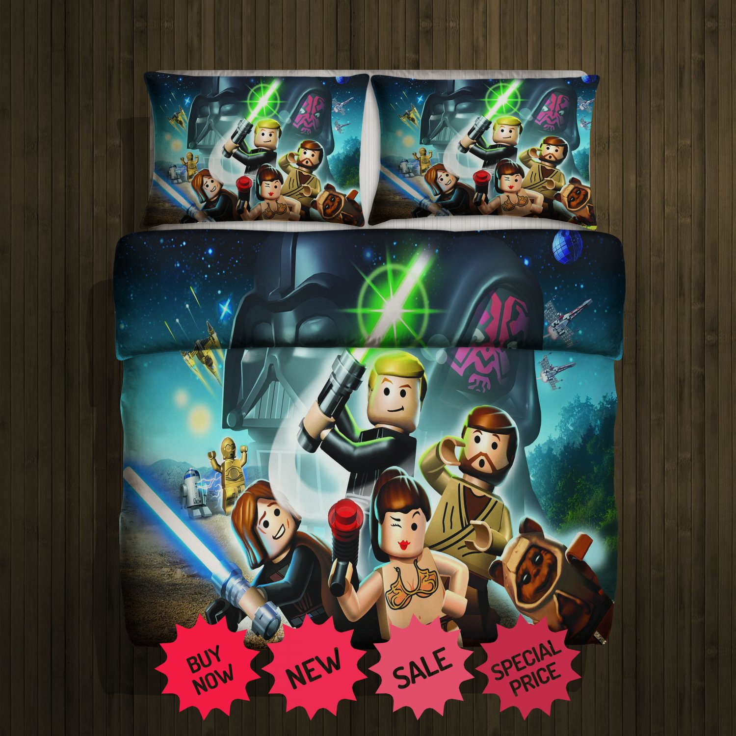 Lego Star Wars The Force Awakens Blanket Large & 2 Pillow Cases #94238497,94238498(2)