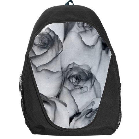 Grey Roses Backpack Bag #94421739