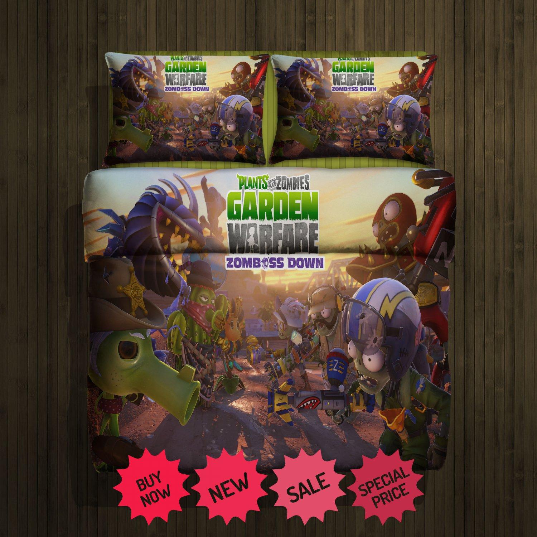 Plants Vs Zombies Blanket Large & 2 Pillow Cases #94732217,94732218(2)