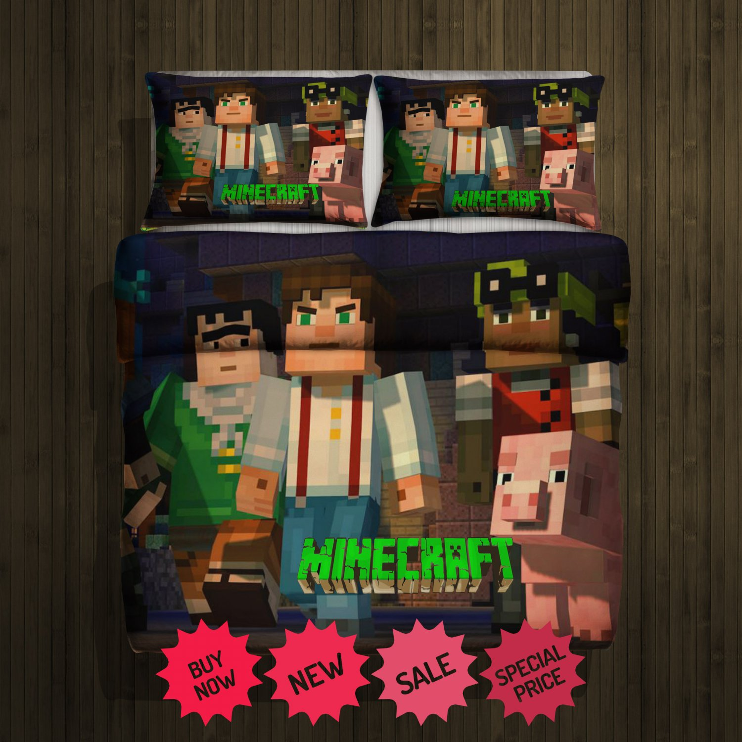 Mine Craft New Blanket Large & 2 Pillow Cases #97295875,97295876(2)