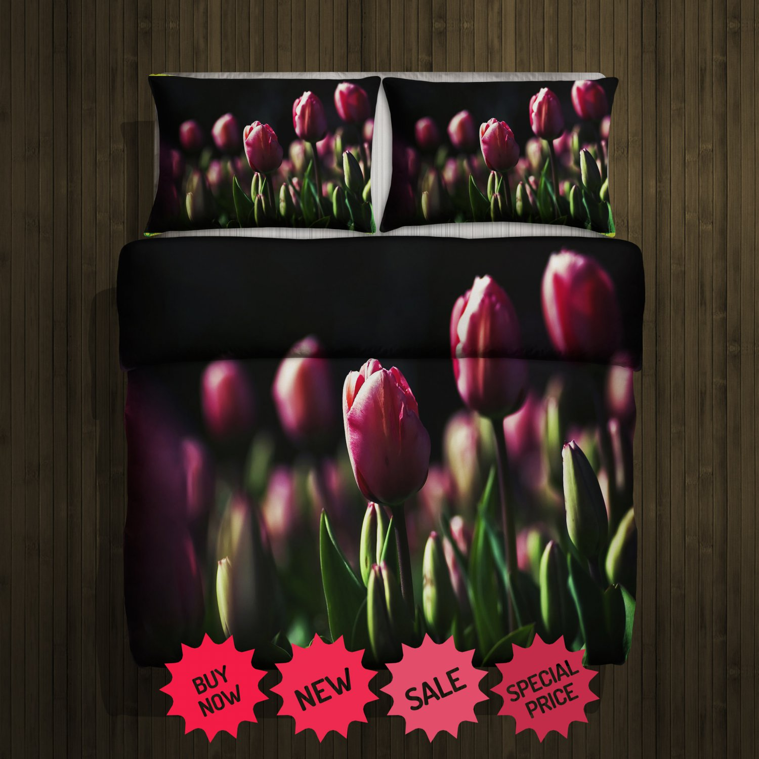 Tulip Blanket Large & 2 Pillow Cases #98646169 ,98647297(2)