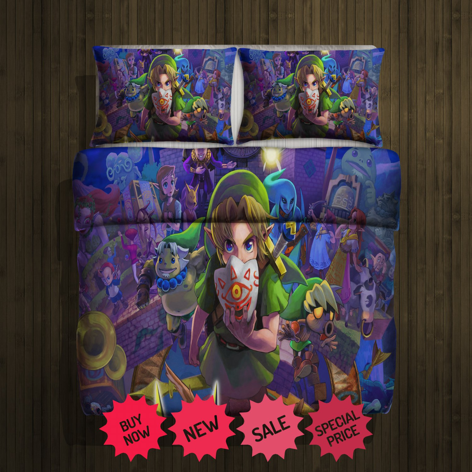 Zelda Majora  Blanket Large & 2 Pillow Cases #98734782 ,98734784(2)