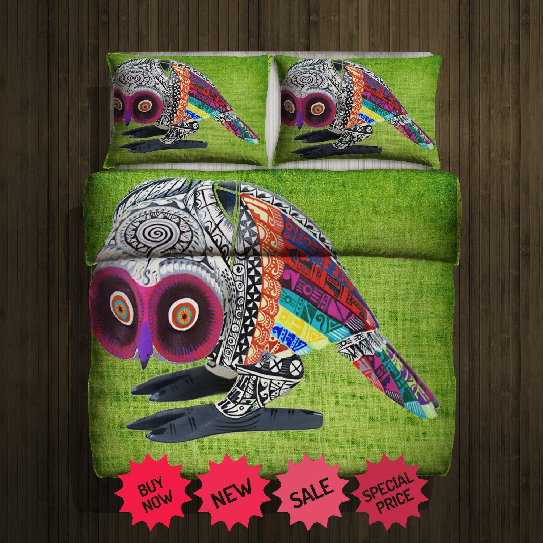 Aztec Owl 2 Blanket Large & 2 Pillow Cases #98741706 ,98741711(2)