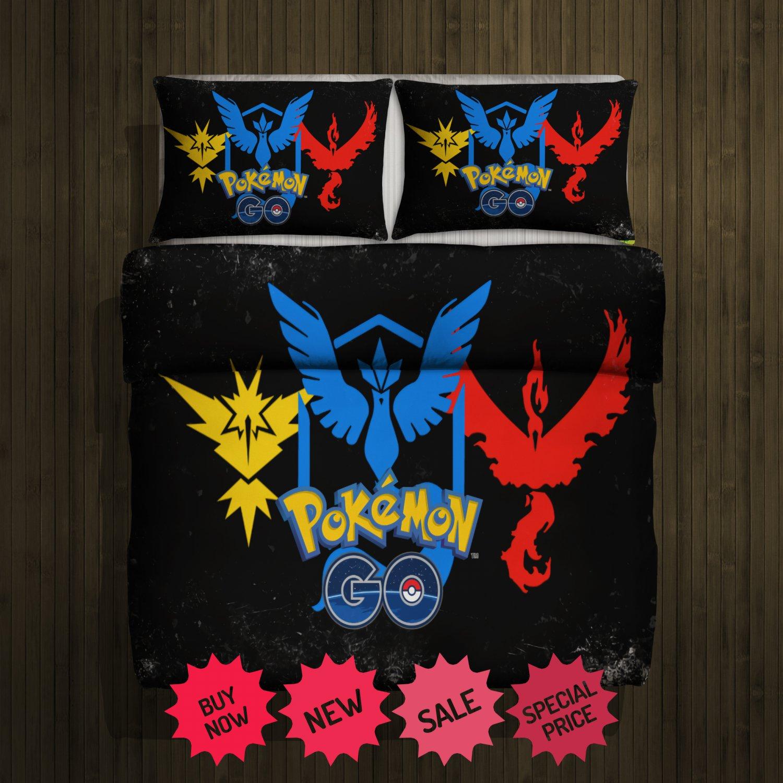 Pokemon Go Blanket Large & 2 Pillow Cases #102919447,102919449(2)