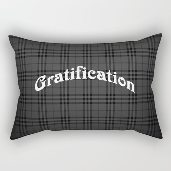 "Gratification Pillow Small 17""X 12"""