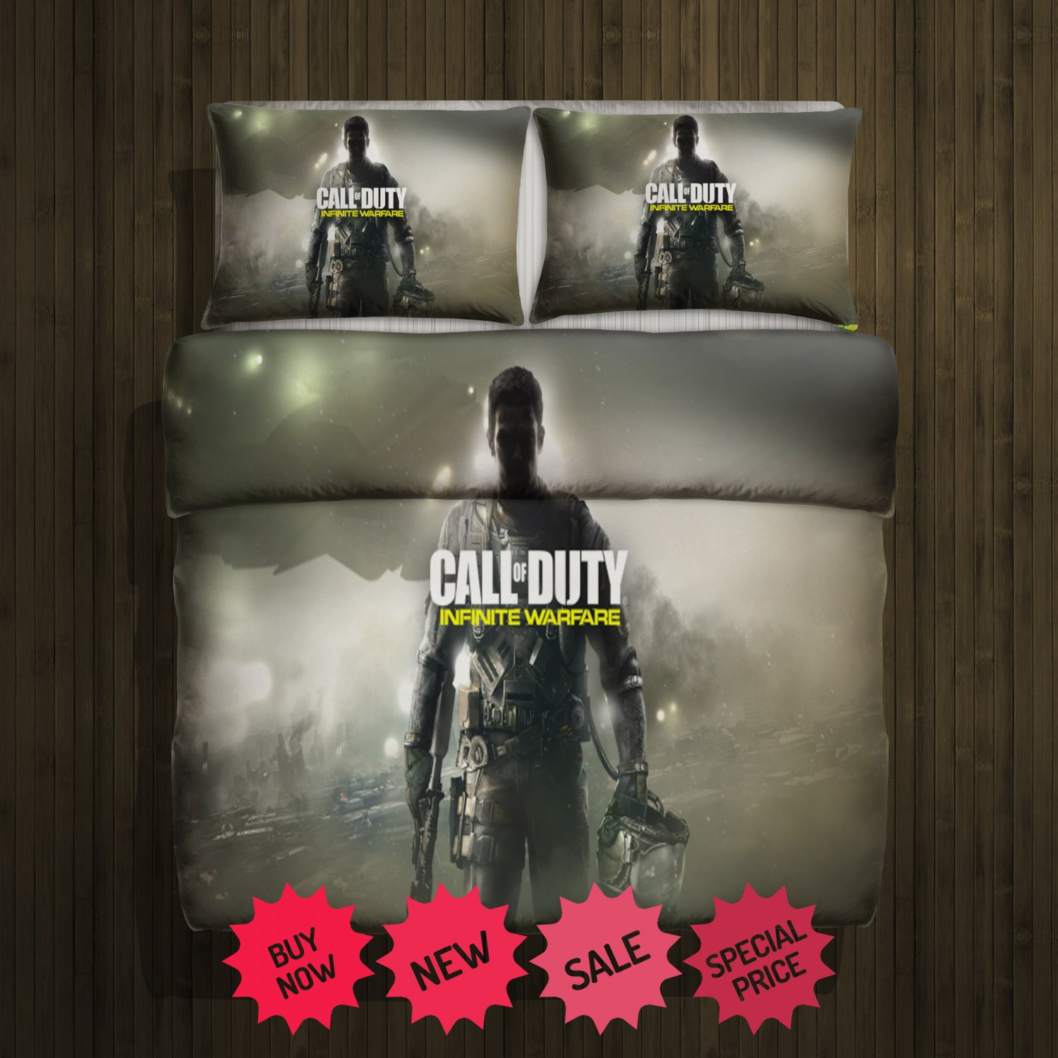 Call Of Duty Infinite Warfare Blanket Large & 2 Pillow Cases