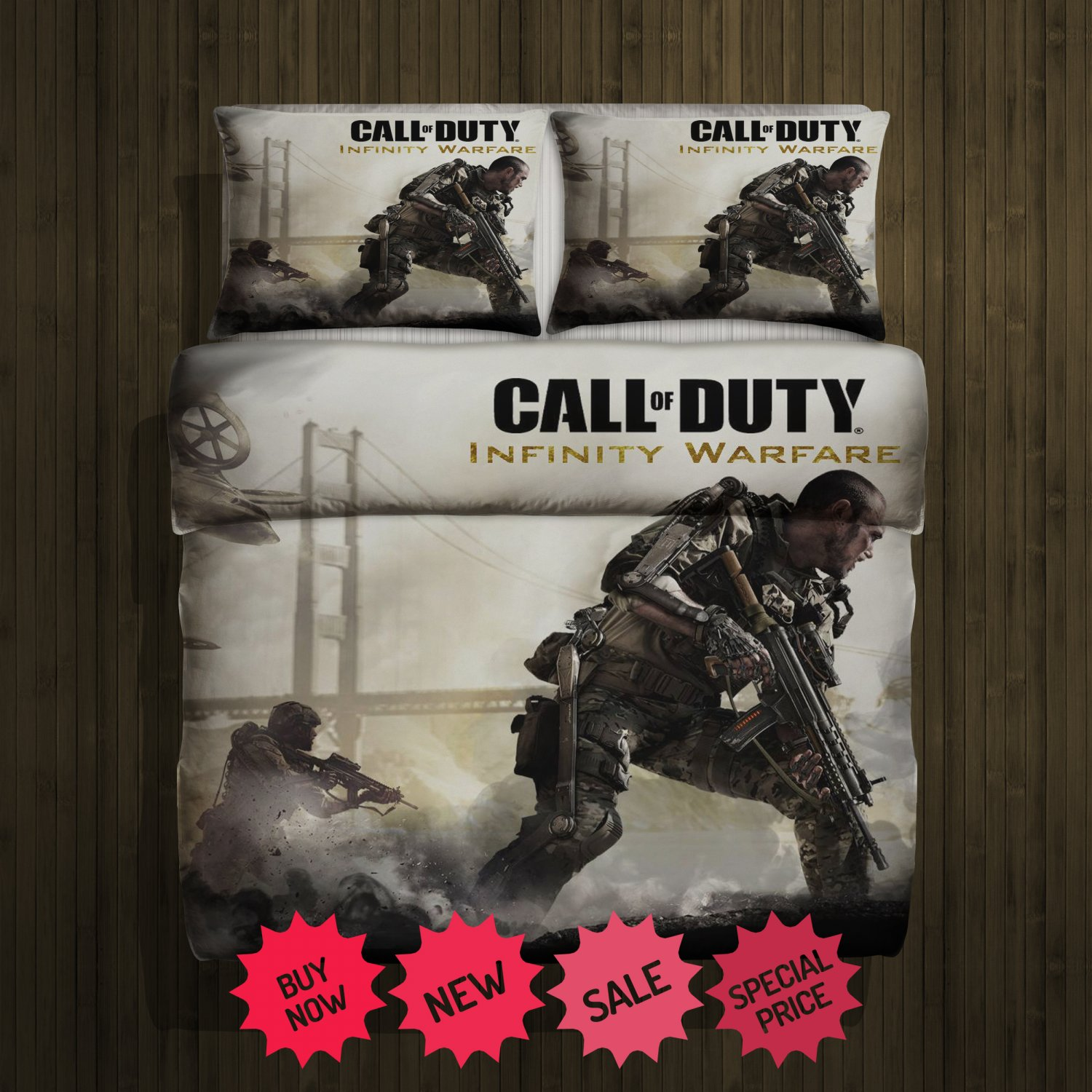 Call Of Duty Infinite Warfare Blanket Large & 2 Pillow Cases #110733211,110738226(2)