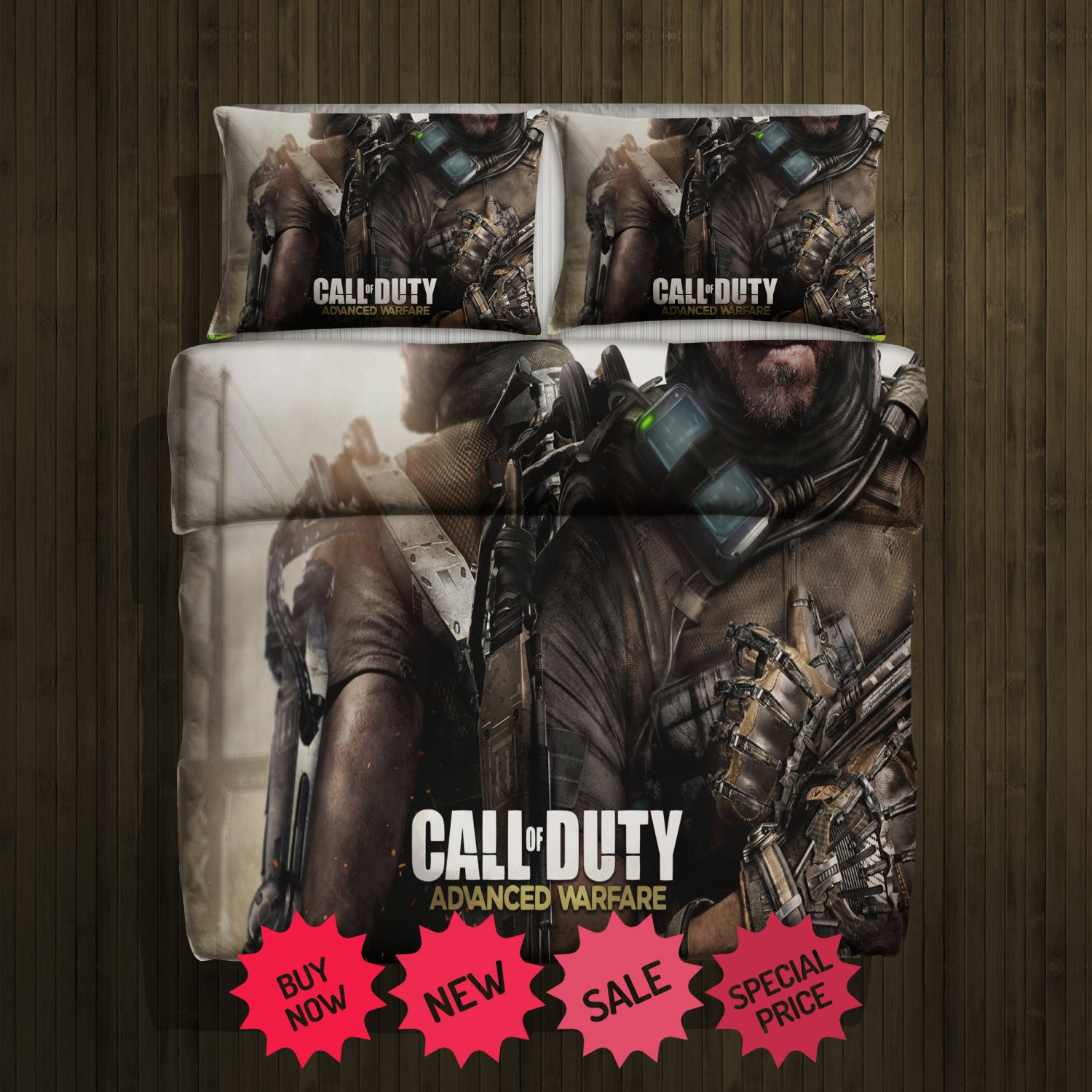 Call of Duty Blanket Large & 2 Pillow Cases #117931629  ,117932400   (2)