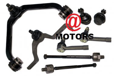 Steering suspension 2 Upper Control Arms Bushings 2 Lower Ball Joints Rack Ends