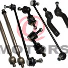 Outer Tie Rod Rack End Inner Steering Sway Bar Link Suspension for Mazda 3,5