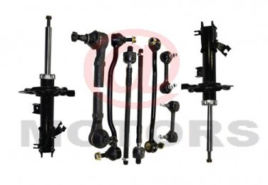 Altima Maxima Suspension Steering Kit Front Shock RH & LH Rack End Sway Bar Link