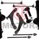 2 Control Arms Strut Assembly Tie Rods Sway Bar Link Kit For Suzuki Grand Vitara