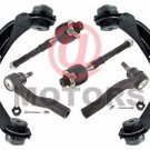 Front Inner Outer Tie Rod End Control Arm & Ball Joint Assembly For Ford Fusion