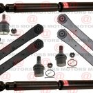 Front Upper Lower Control Arms Ball Joints Shocks For Dodge Ram 4X4 2500 03-06