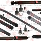 For Dodge Ram 2500 03-06 Front Control Arms Ball Joint Tie Rods Pitman Arm 4WD Shocks
