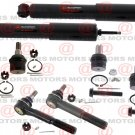 Front Tie Rods Upper Lower Ball Joints Shocks For F-250 Super Duty RWD 99 To 07