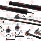 For Ford F-250 2007 Inner Outer Tie Rods Upper Lower Ball Joints Shock Absorber