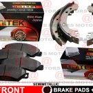 Front Left Right Brake Pad Semi-Metallic Rear Brake Shoes For Jeep Wrangler 06