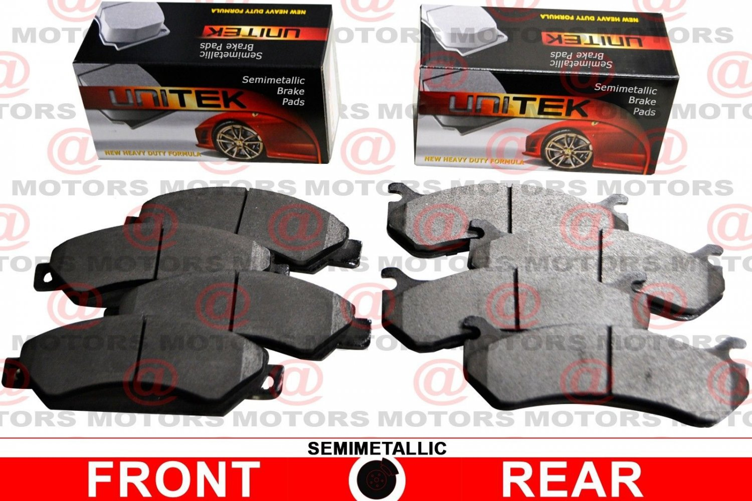 For Ford Escape 2005-2008 Front Rear Left Right Brake Pads Semi-Metallic New