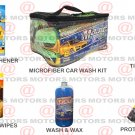 Car Care Kit Wash & Wax Microfiber Portable Tire Shine Wipes Air Freshener Free