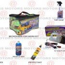 Car Care Kit Wash & Wax Microfiber Portable Tire Shine Wipes 12 Volt Vacuum New
