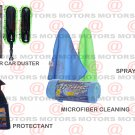 Car Care Kit Protectant Spray & Glow Microfiber Car Duster & Cleaning Cloths Kit