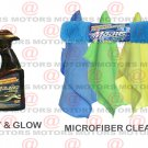 "Spray & Glow Absorbent Microfiber Cleaning Cloths Size 12""X16"" Majic 3 Pk New"