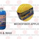 3 Pack Microfiber Applicator Pads Wash Wax Concentrate 32 oZ Car Care Kit New