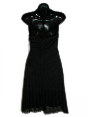 MORGAN & CO Black Halter Lace Sequin Dress M Jr