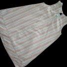 C C Bates Pink Orange Striped A Line Easter Dress 4 T