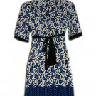 LIMITED TOO LTD 2 Blue Black  White Stretch Dress 14