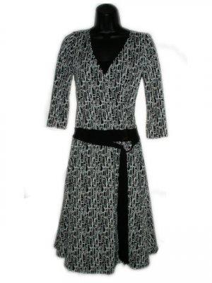 MAURICES Black White Pattern Dress S M